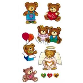 Tetovanie farebné medvedíky 16,5 x 10,5 cm 1 kus