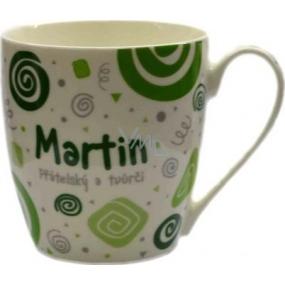 Nekupto Twister hrnček s menom Martin zelený 0,4 litra