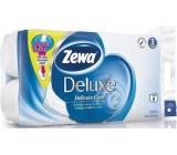 Zewa Deluxe AquaTube Pure White parfémovaný toaletní papír 3 vrstvý 150 útržků 8 kusů, rolička, kterou můžete spláchnout