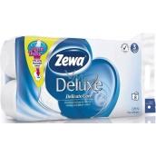 Zewa Deluxe Aqua Tube Delicate Care toaletní papír 3 vrstvý 150 útržků 8 kusů, rolička, kterou můžete spláchnout