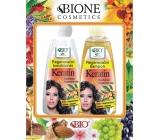 Bione Cosmetics Keratin & Arganový olej regenerační šampon 260 ml + regenerační kondicionér 260 ml, kosmetická sada