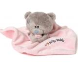 Me To You Tiny Tatty Teddy růžová dečka s medvídkem 22 x 18 cm
