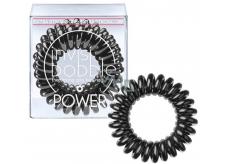 Invisibobble Power True Black Gumička do vlasov čierna špirálová 3 kusy