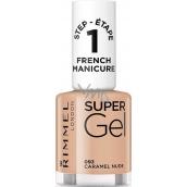 Rimmel London Super Gel French Manicure lak na nehty 093 Caramel Nude 12 ml