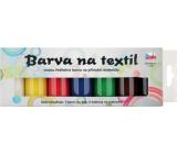 Sada barev na světlý textil klasik 7 x 15 g + šablony