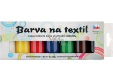 Sada farieb na svetlý textil klasik 7 x 15 g + šablóny