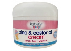 Cotton Tree Baby Zinc & Castor Oil Cream Zinková krémová masť na zapareniny pre deti 200 g
