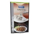 Dr. Clauders Ľadvinky a hydina v omáčke kompletné krmivo s kúskami mäsa pre mačky kapsička 100 g