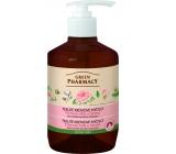 Green Pharmacy Pižmová růže a Bavlna tekuté krémové omlazující mýdlo 460 ml