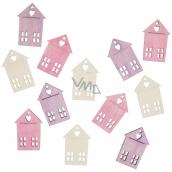 Domy dřevěné 4 cm, 12 ks