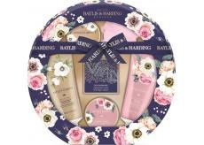 Baylis & Harding Kráľovská záhrada toaletné mydlo 150 g + sprchový krém 130 ml + umývací gél 130 ml + kryštáliky do kúpeľa 100 g + telové mlieko 100 ml, kozmetická sada