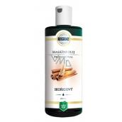Topvet Professional Škoricový masážny olej, spôsobuje lokálne prehriatie pokožky, rozšírenie ciev, a tým odbúravanie tukov v koži 200 ml