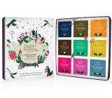 English Tea Shop Bio Vianočná kolekcia prémiová - Biela Vianočné noc + Náboj Chai-e + Írskej vianoce + Káva a kakao + Mätový punč + Prízračné korenie + Silná broskyňa + Sviatočné povzbudenie + Zimné rovnováha, 72 kusov, 9 príchuťou po 8 nálevových vrecúškach, darčeková sada v plechovej dóze