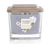 Yankee Candle Sea Salt & Lavender - Morská soľ a levandule sójová vonná sviečka Elevation strednej sklo 3 knôty 347 g