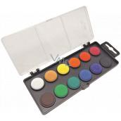 Koh-i-Noor Školské vodové farby, čierny podklad 22,5 mm 12 farieb