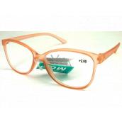 Berkeley Čítacie dioptrické okuliare +2,0 plast staroružovej priehľadné 1 kus MC2191