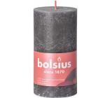 Bolsius Rustic sviečka tmavo šedá valec 68 x 130 mm