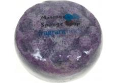 Fragrant Martian Glycerinové mýdlo masážní s houbou naplněnou vůní parfému Thierry Mugler Alien v barvě fialové 200 g