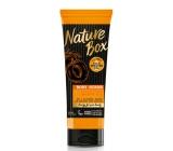 Nature Box Marhuľa Vitamínový antioxidant telový peeling sa 100% za studena lisovaným olejom, vhodné pre vegánov 200 ml