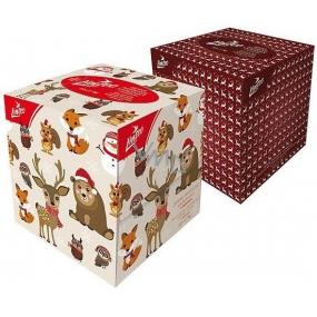 Linteo Vánoční jemné papírové kapesníky s balzámem bílé 2 vrstvé 80 kusů