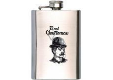 Bohemia Gifts & Cosmetics Gentleman nerezová ploskačka na alkohol 200 ml
