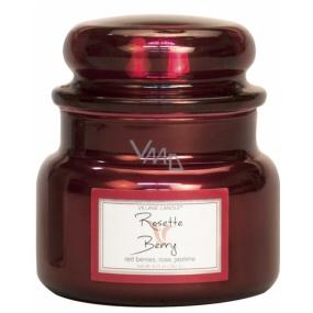 Village Candle Ruže a červené ovocie - Rosette Berry vonná sviečka v skle 2 knôty 262 g