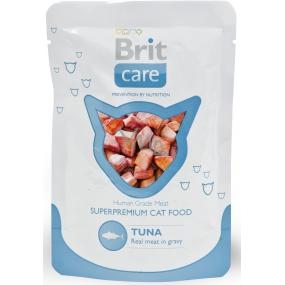 Brit Care Tuniak vrecko kompletné krmivo pre mačky, kúsky mäsa s tuniakovou príchuťou 80 g