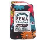 Albi Skladacia taška na zips do kabelky s nápisom Výnimočná žena rozmer: 42 cm × 41 cm × 11 cm