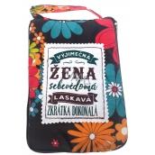 Albi Skladacia taška na zips do kabelky s nápisom Výnimočná žena 42 x 41 x 11 cm