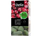 Delia Fruit Fantasy Duopack Avokádo výživný nočný krém pre suchú a normálnu pleť 50 ml + Višňa výživný nočný krém pre mastnú a zmiešanú pleť 50 ml, kozmetická sada