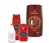 Old Spice Captain Wooden Barrel dezodorant stick 50 ml + 2v1 sprchový gél na telo a vlasy 250 ml + voda po holení 100 ml + barel, kozmetická sada pre mužov