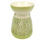 Aromalampa porcelánová so zeleným dekorom 11 cm