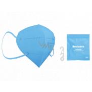 Healfabric Respirátor ústnej ochranný 5-vrstvový FFP2 tvárová maska svetlo modrá 1 kus