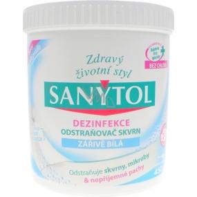 SANYTOL Dezinfekcia odstraňovač škvŕn žiarivo biela 450 g