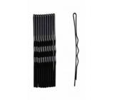 Duko Vlasové spony čierna lak 7 cm 10 kusov