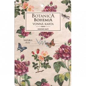 Bohemia Gifts Botanica Aromatická vonná karta Šípek a ruže 10,5 x 16 cm