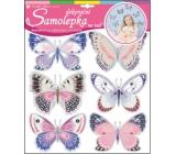 Room Decor Samolepky na zeď hologramoví motýlci 30,5 x 30,5 cm