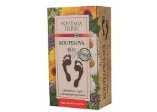 Bohemia Gifts Extrakt bylín soľ do kúpeľa na nohy s dezodoračným účinkom a antibakteriálnou prísadou 200 g