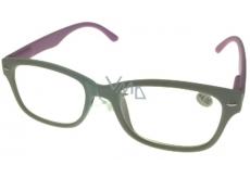Okuliare diop.plast. + 4 sivé ružové stranice MC2150