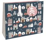 Nekupto Darčeková papierová taška luxusné veľká 33 x 33 cm Vianočný WLIL 1791