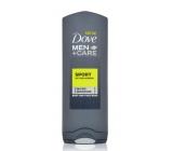 Dove Men + Care Active + Fresh osviežujúci sprchový gél na telo a tvár 250 ml