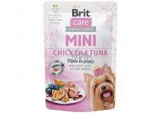 Brit Care Mini Chicken & Tuna Fillets In Gravy kompletné superprémiové krmivo pre dospelé psy mini plemien kapsička 85 g
