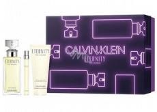Calvin Klein Eternity toaletná voda pre ženy 100 ml + toaletná voda pre ženy 10 ml + telové mlieko 100 ml, darčeková sada