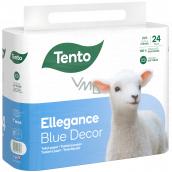 Tento Ellegance Blue Decor toaletný papier 3 vrstvový, 15,5 m, 24 kusov