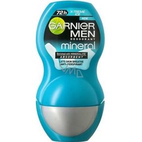 Garnier Men Mineral X-Treme Ice guličkový antiperspirant dezodorant roll-on pre mužov 50 ml
