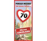 Bohemia Gifts Mliečna čokoláda Všetko najlepšie 70, darčeková 100 g