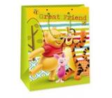 Ditipo Disney Darčeková papierová taška pre deti Macko Pú, Great Friend 26,4 x 12 x 32,4 cm