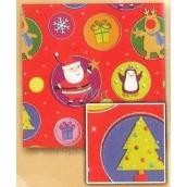 Nekupto Vánoční balicí papír Dětské motivy 2 x 0,7 m
