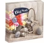 Big Soft Veľkonočné papierové obrúsky košík, kvietok, lucerna 33 x 33 cm 2 vrstvové 20 kusov