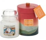 Yankee Candle Coconut Splash - Kokosové osvieženie vonná sviečka Classic strednej sklo 411 g darčeková sada 2018